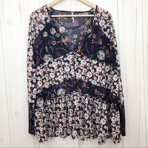 Free People Floral Isabella Tunic Top